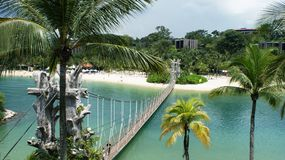 Beautiful and clear nature of Singapore Stock Images