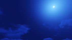 Beautiful clear night sky, the clouds are good. Royalty Free Stock Photo