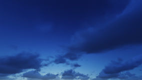 Beautiful clear night sky, the clouds are good. Royalty Free Stock Photography