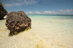 Beautiful clear sea. A beautiful sea scape in Mare (Pacific Royalty Free Stock Photos