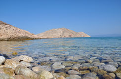 Beautiful clear seawater in Lukovo bay, Croatia Stock Photos