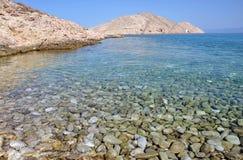 Beautiful clear seawater in Lukovo bay, Croatia Royalty Free Stock Image