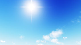 Beautiful clear skies during the day, the clouds are good. Royalty Free Stock Images