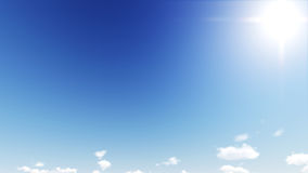 Beautiful clear skies during the day, the clouds are good. Royalty Free Stock Photos