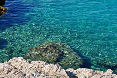 Beautiful clear, turquoise sea water Royalty Free Stock Images
