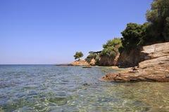 Beautiful clear water of the Aegean Sea Stock Photo