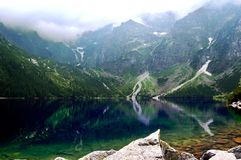 Beautiful clear water in a mountain lake royalty free stock images