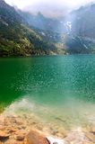 Beautiful clear water in a mountain lake royalty free stock photos