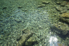 Beautiful clear water with stones Royalty Free Stock Images