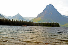 Beautiful clear waters of lake in Glacier National Park. Stock Photo