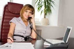 Beautiful clerk Stock Image