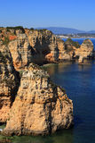 Beautiful cliff formations, Atlantic Coast, Lagos, Western Portugal. Stock Photos