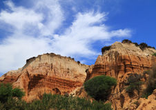 Beautiful cliff formations, Portugal Royalty Free Stock Images