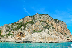 Beautiful cliff in Orosei Gulf Stock Photography