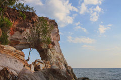 Beautiful cliffs and basalt rocks in Andaman sea Royalty Free Stock Photos