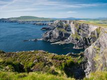 View to Cliff of Kerry near Portmagee in Ireland royalty free stock photography