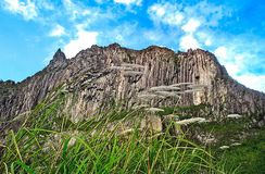 Beautiful cliffs in the crater of Mount Kelud. In Kediri, East Java, Indonesia royalty free stock photos