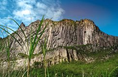 Beautiful cliffs in the crater of Mount Kelud. In Kediri, East Java, Indonesia royalty free stock photo