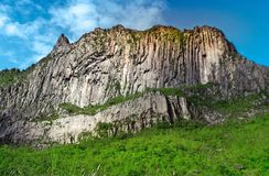 Beautiful cliffs in the crater of Mount Kelud. In Kediri, East Java, Indonesia stock photography