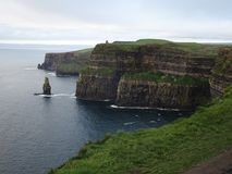 Beautiful Cliffs of Moher in Ireland near Doolin. Wild atlantic way Stock Images