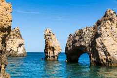 Beautiful cliffs in the ocean Stock Photos