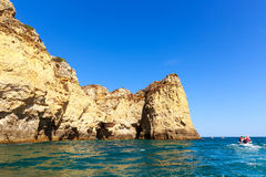 Beautiful cliffs in the ocean Royalty Free Stock Photos
