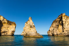 Beautiful cliffs in the ocean Royalty Free Stock Image