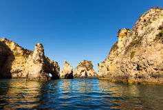 Beautiful cliffs in the ocean Royalty Free Stock Photo