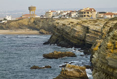 Beautiful Cliffs of Peniche Royalty Free Stock Photo