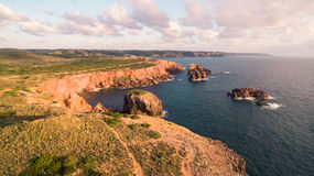 Beautiful cliffs on west coast of Portugal near Carrapateira, Rota Vicentina. Royalty Free Stock Image