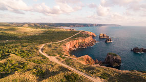 Beautiful cliffs on west coast of Portugal near Carrapateira, Rota Vicentina. Stock Images