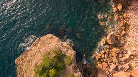 Beautiful cliffs on west coast of Portugal near Carrapateira, Rota Vicentina. Stock Photos