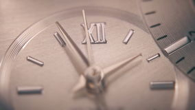 Beautiful clock shot with macro lens. 4K stock video footage