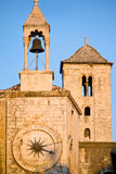 Beautiful clock tower in the old town of Split royalty free stock photos