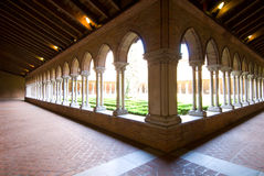 Beautiful cloister in Jacobins church stock photo