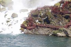Beautiful close photo of the amazing Niagara waterfall US side Royalty Free Stock Photos