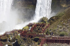 Beautiful close photo of the amazing Niagara waterfall US side Stock Photos