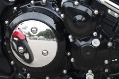 Beautiful close-up details of a motorcycle Stock Photos