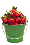 Strawberries In Pail Close Up Isolated Royalty Free Stock Photos