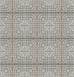 Seamless grey cement tile pavement texture background. stock photos