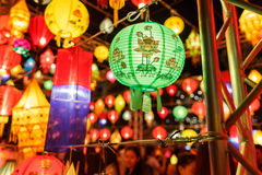 Beautiful close-up international lanterns Royalty Free Stock Photography