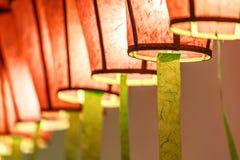 Beautiful close-up international lanterns Stock Photo