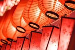 Beautiful close-up international lanterns Stock Images