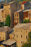 Beautiful Close-up Old Town of Mostar in Bosnia Royalty Free Stock Photo