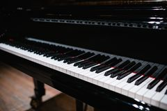 Beautiful close-up of piano keys Royalty Free Stock Images