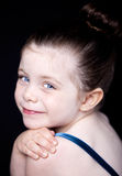 Beautiful close up portrait of a ballerina Royalty Free Stock Photos