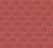 Seamless red brick pavement texture background. Seamless background design stock photo