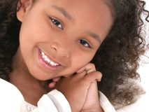Beautiful Close Up Of Six Year Old Girl Stock Photo