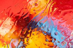 Red, orange, blue, yellow colorful abstract design, texture. Beautiful backgrounds. Beautiful close up view red, orange, blue, yellow colorful abstract design stock photography
