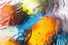 Red, blue, white, orange,black, yellow colorful abstract design, texture. Beautiful backgrounds. stock images